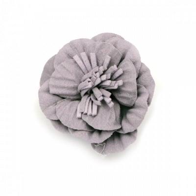 Цвете от велурена хартия 50х22 мм цвят лилав пастел