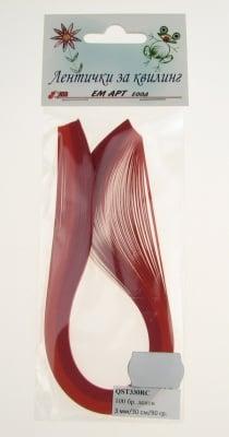 Ленти за квилинг (хартия 90 гр) 3мм/ 30см -2 цвята червена гама - 100бр