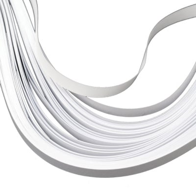 Ленти за квилинг (хартия 90 гр) 6 мм/ 30 см - бели - 100 бр