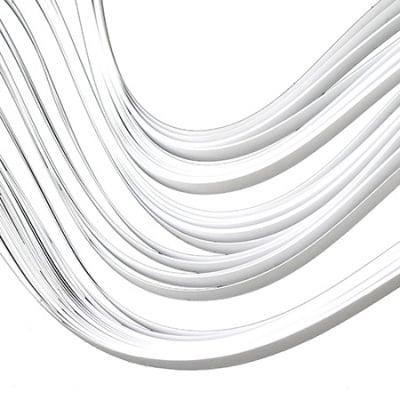 Ленти за квилинг (хартия 90 гр) 6 мм/ 50 см - бели - 100бр