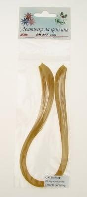 Ленти за квилинг перлени (хартия 120 гр) 2 мм/ 35 см Fabriano, Mai Tai, цвят злато -50 бр цвят злато