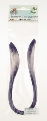 Ленти за квилинг перлени (хартия 120 гр) 2 мм/ 35 см Fabriano, Purple Rain, цвят лилав -50 бр цвят лилав