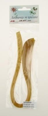 "Ленти за квилинг перлени (хартия 120 гр) 4 мм/ 35 см Fabriano ""Mai Tai"" цвят злато -50 бр"