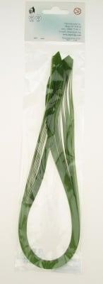 Ленти за квилинг перлени (хартия 120 гр) 4 мм/ 50 см Fabriano, Mojito, цвят зелен -50 бр