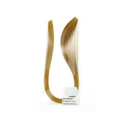 Ленти за квилинг перлени (хартия 120 гр) 6 мм/ 35 см Fabriano, Mai Tai, цвят злато -50 бр