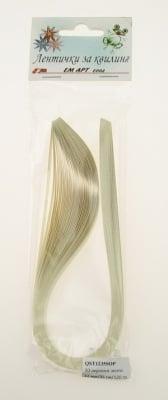 Ленти за квилинг перлени (хартия 120 гр) 6 мм/ 35 см Stardream Кварц перла -50бр