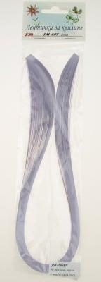 Ленти за квилинг перлени (хартия 120 гр) 4 мм/ 50 см Stardream Светло виолетов -50бр
