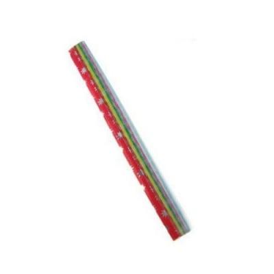 Цветни хартиени ленти 250x9 мм 5 цвята за декорация и оригами ~85 броя
