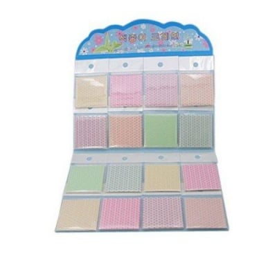 Хартия оризова с щампа 5x5 см АСОРТЕ цветове -12 броя