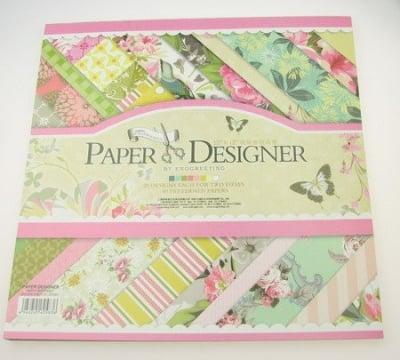 Дизайнерска хартия за скрапбукинг 12 inch (30.5x30.5 см) 20 дизайна x 2 листа
