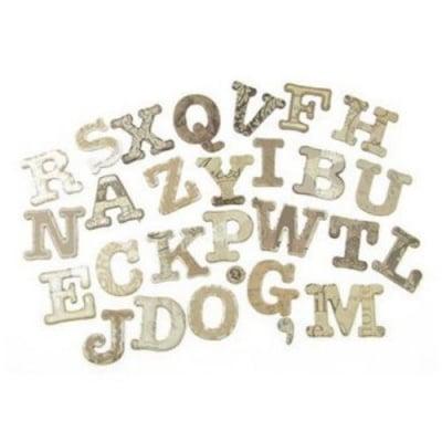 Комплект за декорация чипборд букви 28 броя