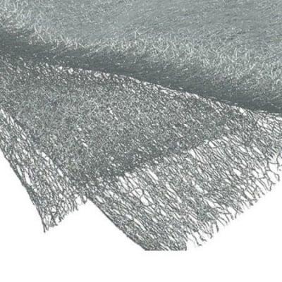 Мрежа тип паяжина със сребърна нишка 80x170 см бяла