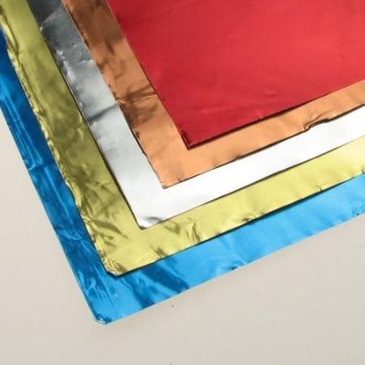 Алуминиево фолио цветно двустранно 18.5 x 29.5 см 5 цвята / 5 листа