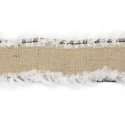 Основа за апликация лента зебло с тюл 8x100 см.