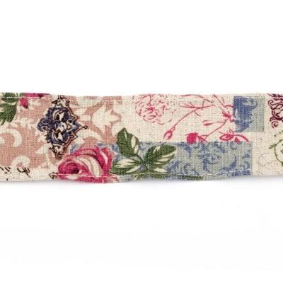 Лента памук за декорация винтидж 5x100 см