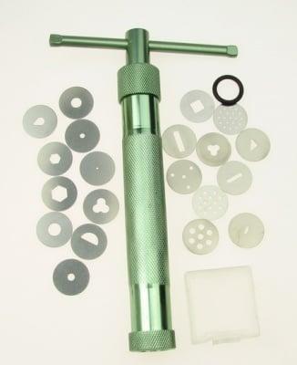 Екструдер за глина с 20 накрайника метален