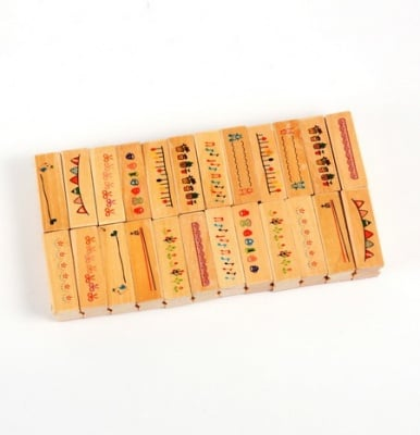 Дървен печат 45x14 мм различни мотиви