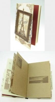 Тефтер винтидж 1005 листа 11.8x17.3x2 см Paris