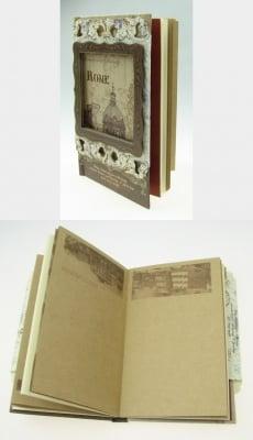Тефтер винтидж 1005 листа 11.8x17.3x2 см Rome