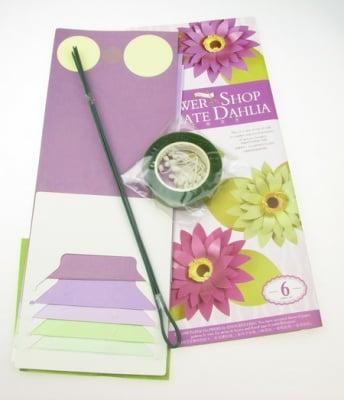 Комплект за направа на 6 броя цветя переста Далия