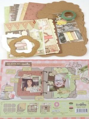Комплект за направа и декорация на албум 6 листа Happy day