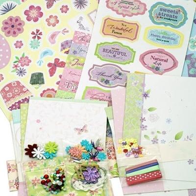 Комплект за декорация на 10 броя картички 17x11.5 см Wish