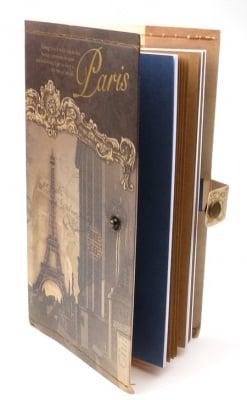 Тефтер с копче винтидж Париж 11x18.5 см ~70 листа