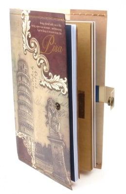 Тефтер с копче винтидж Пиза 11x18.5 см ~70 листа