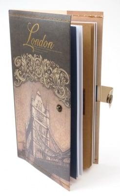 Тефтер с копче винтидж Лондон 11x18.5 см ~70 листа