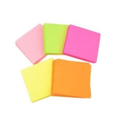 Кубче цветни листи 7x7 см за декорация и оригами ~100 броя