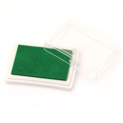 Тампон с пигментно мастило 6x3.8 см цвят зелен