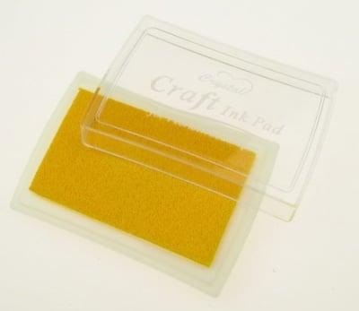 Тампон с пигментно мастило 6x3.8 см цвят жълт