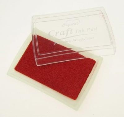 Тампон с пигментно мастило 6x3.8 см цвят червен