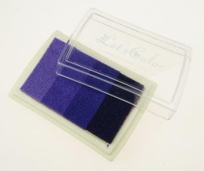 Тампон с пигментно мастило 6x3.8 см - 4 цвята лилава гама