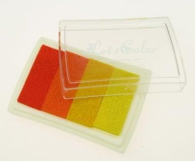 Тампон с пигментно мастило 6x3.8 см - 4 цвята жълто-оранжева гама