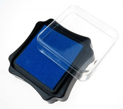 Тампон с пигментно мастило 6.2x2.1 см цвят син