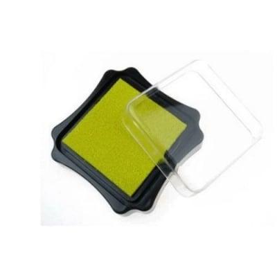 Тампон с пигментно мастило 6.2x2.1 см цвят жълт