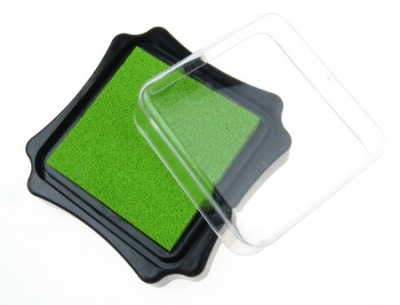 Тампон с пигментно мастило 6.2x2.1 см цвят зелен светло
