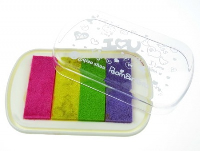 Тампон с пигментно мастило 10.1x6.4x1.6 см -4 цвята