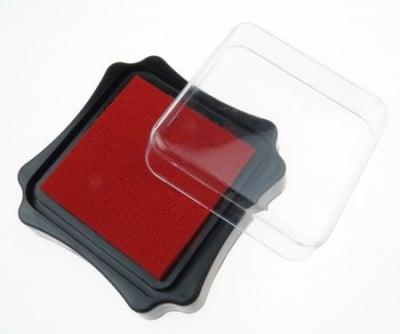 Тампон с пигментно мастило 6.2x2.1 см цвят червен