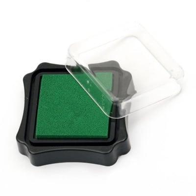 Тампон с пигментно мастило 6.2x2.1 см цвят зелен