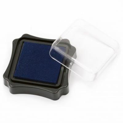 Тампон с пигментно мастило 6.2x2.1 см цвят син тъмно