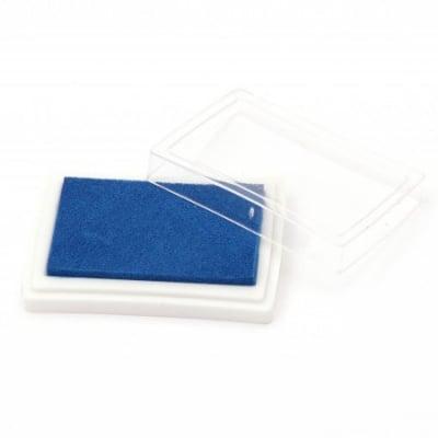 Тампон с пигментно мастило 6x3.8 см цвят син