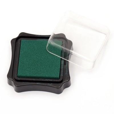 Тампон с пигментно мастило 6.2x2.1 см цвят зелен тъмно