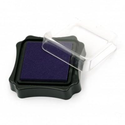 Тампон с пигментно мастило 6.2x2.1 см цвят лилав