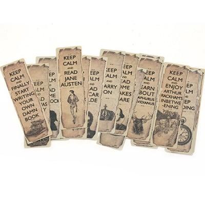 Комплект декорации /bookmark/ 18 броя 4x13.7 см винтидж Keep Calm