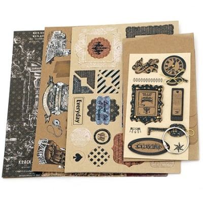 Комплект за направа и декорация на албум 4 листа 9.3x12.3 см Journey