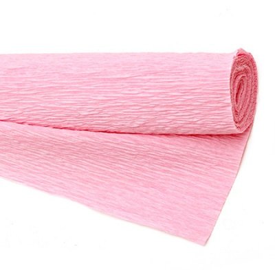 Креп хартия 50x230 см розова млечна