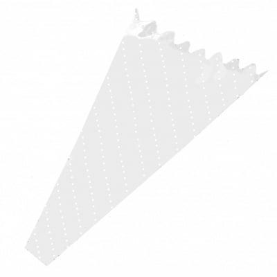 Целофанова фуния за цветя 450x340x75 мм с бели точки -10 броя