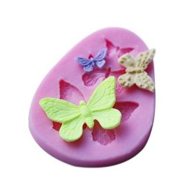 Силиконов молд /форма/ 72x57x8 мм пеперуди